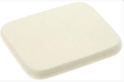 Губка 01409 для нанесения макияжа, белая, квадрат (Eurostil)