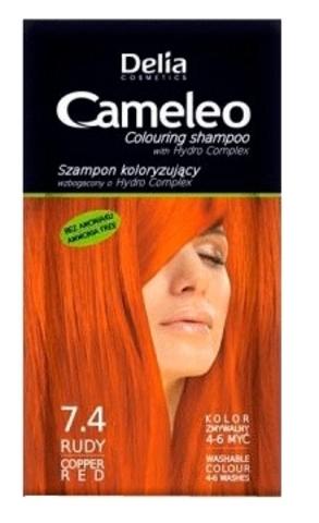 Оттеночный шампунь тон 7.4 (Delia cosmetics)