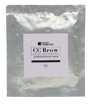 Хна для бровей CC Brow (black) в саше (черный), 5 гр (Lucas Cosmetics)
