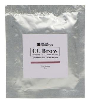 Хна для бровей CC Brow (brown) в саше (коричневый), 5 гр (Lucas Cosmetics)