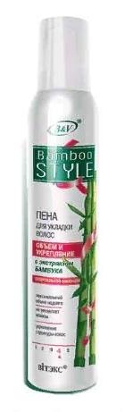 BAMBOO STYLE Пена для укладки волос СуперСильной фиксации 200 (Vitex)