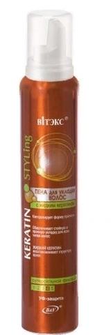 Keratin STYLing Пена для укладки волос СуперСильной фиксации 200мл/12
