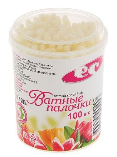 Палочки ватные белые №100 (банка) (Емельянъ Савостинъ)