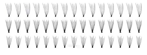 82-10-1654 QVS Накладные ресницы (45 пучков/уп)