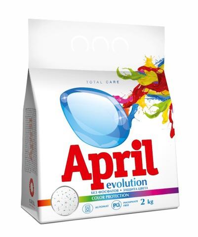 April Стиральный порошок Evolution color protection Автомат 2 кг.
