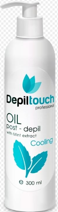 Охлаждающее масло с экстрактом мяты после депиляции 300 мл. (Depiltouch)