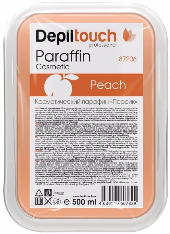Парафин косметический «Персик» в ванночке 500 мл. (Depiltouch)