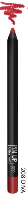 Карандаш для губ PIN UP ultra matt тон 208 (diva)