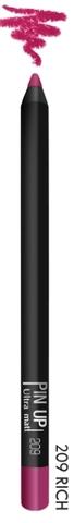 Карандаш для губ PIN UP ultra matt тон 209 (rich)
