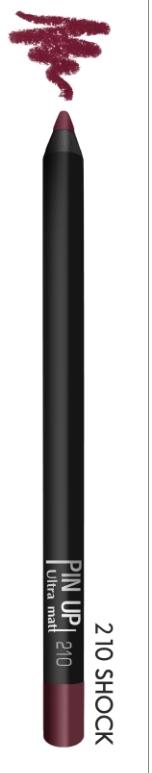 Карандаш для губ PIN UP ultra matt тон 210 (shock)