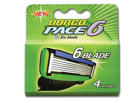 DORCO PACE6 4'S сменные кассеты с 6 лезвиями