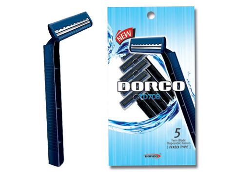 DORCO TD-708 мужской одноразовый станок с 2 лезвиями (6 шт. в комплекте)