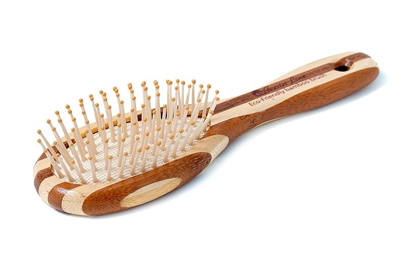 Расческа BB1-N массажная пласт. зубцы бамбук