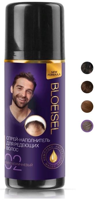 Bloeisel Спрей-наполнитель для мужчин, тон 03 светло-коричневый, 75мл.