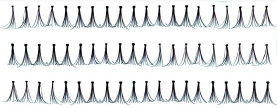 Пучки накладных ресниц 14мм ЧЕРНЫЕ 60шт 112-052 (Di Valore)