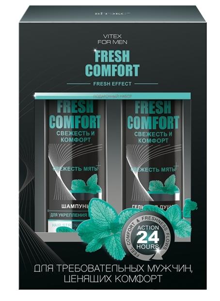 Подарочный набор VITEX FM FRESH COMFORT(Шампунь для укрепления волос+Гель для душа) (Vitex)