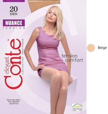Колготки жен. Conte NUANCE 40,  p.2 beige
