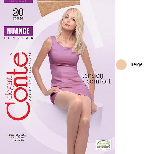 Колготки жен. Conte NUANCE 40,  p.5 beige