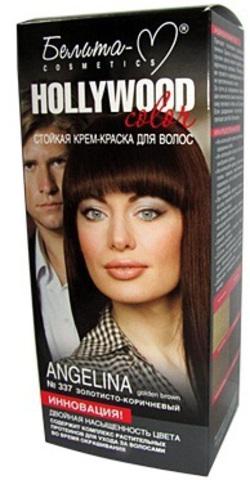Белита-М Hollywood Крем-краска для волос тон №337 ''Анджелина'' (золотисто-коричневый) 100 мл