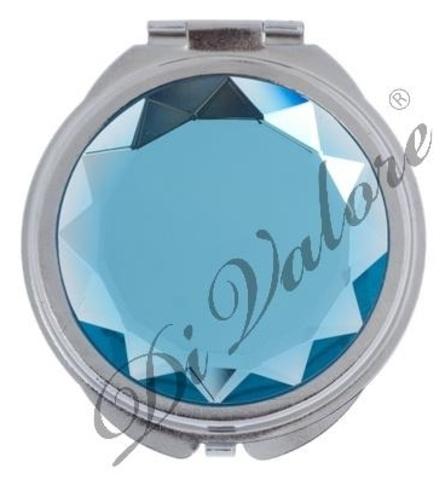 Зеркало карманное круглое С КАМНЕМ 114-010 (Di Valore)
