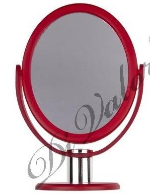 Зеркало настольное овальное КРАСНОЕ матовое 114-028 (Di Valore)