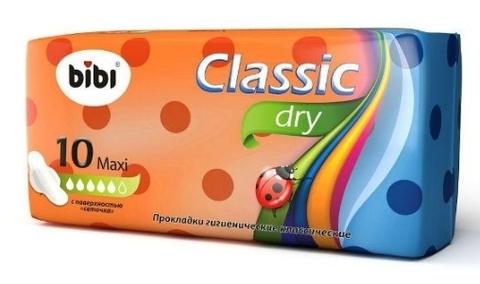 Bibi прокладки Классик Макси Драй 10 шт