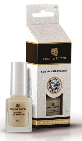 Средство для ногтей Против слоящихся и бороздчатых ногтей Natural AntiStriation 12 мл. (Brigitte Bottier)