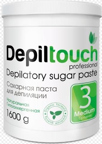 Сахарная паста для депиляции СРЕДНЯЯ 1600 г. (Depiltouch)