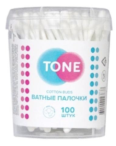 Tone Ватные палочки стакан круглый 100шт (Tone)