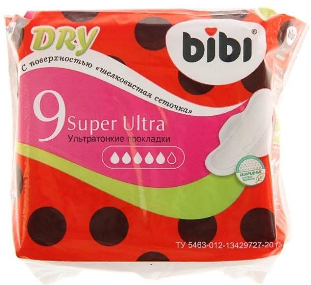 Bibi Super Ultra Dry 9 шт