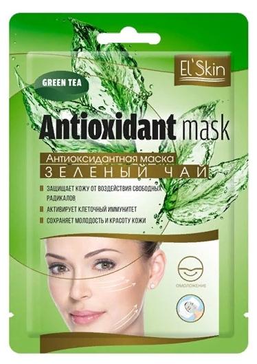 ES-902 Антиоксидантная маска  «ЗЕЛЕНЫЙ ЧАЙ» 1шт/15мл (Elskin)